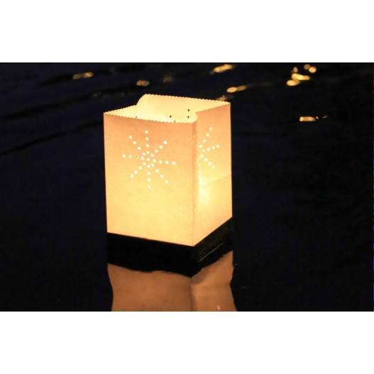 White Floating Tulum Candle Bag