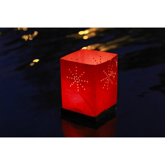 Red Floating Tulum Candle Bag