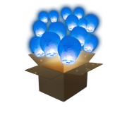 Royal Blue Sky Lanterns x50