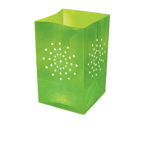 Apple Green Candle Bag Large Size x5