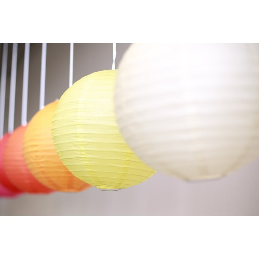 Luminaire suspension boule papier for Lampe papier castorama