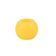 Yellow Round Wax LED Candle 2""