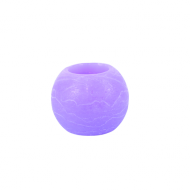 Lilac Round Wax LED Candle 2""