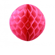 Fuchsia Honeycomb Paper Ball 16""