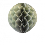 Grey Honeycomb Paper Ball 16""