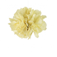 "Pale Yellow Paper Pom Poms 8"" x2"