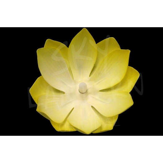 Yellow Nymphea LED Water Lantern