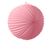 Pale Pink Accordion Paper Lantern Ball 14""