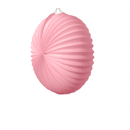 Pale Pink Accordion Paper Lantern 12""