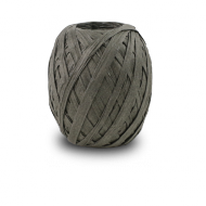 Grey Raffia Ribbon