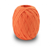 Orange Raffia Ribbon