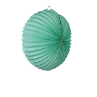 Sea Green Accordion Paper Lantern 12""