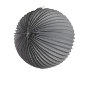 Grey Accordion Paper Lantern Ball 14""