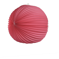 Fuchsia Accordion Paper Lantern Ball 14""