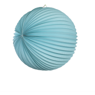 Aquamarine Accordion Paper Lantern Ball 14""
