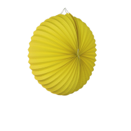 Yellow Accordion Paper Lantern 12""