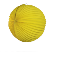 Yellow Accordion Paper Lantern Ball 14""
