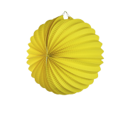 Yellow Accordion Paper Lantern Ball 8""