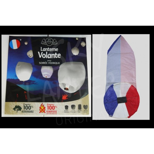 French Flag Sky Lantern