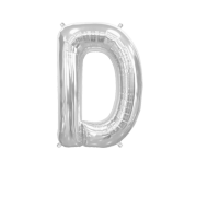 Letter Balloon D Silver 14""