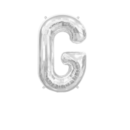 Letter Balloon G Silver 14""