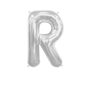 Letter Balloon R Silver 14""