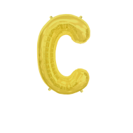 Letter Balloon C Gold 14""