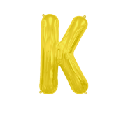 Letter Balloon K Gold 14""