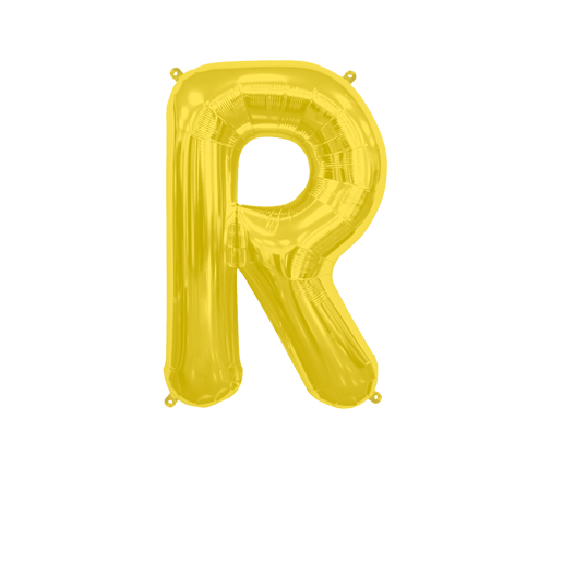 """Letter Balloon R Gold 14"""""""