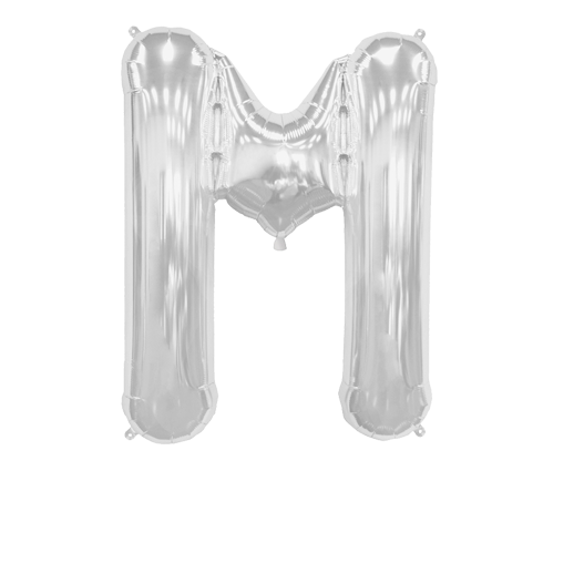 """Letter Balloon M Silver 36"""""""
