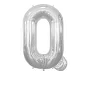 Letter Balloon Q Silver 36""