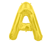 Letter Balloon A Gold 36""