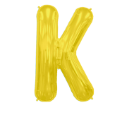 Letter Balloon K Gold 36""