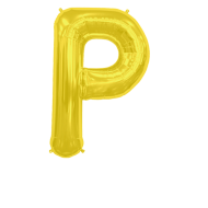 Letter Balloon P Gold 36""