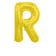 Letter Balloon R Gold 36""