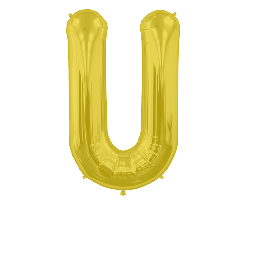 Letter Balloon U Gold 36""
