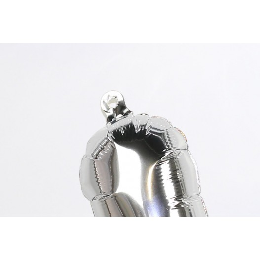 """Letter Balloon F Silver 14"""""""
