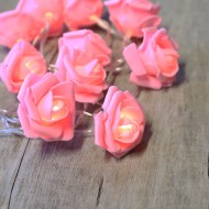 Pale Pink Roses Fairy Lights