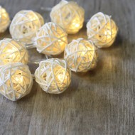 White Rattan Fairy Lights