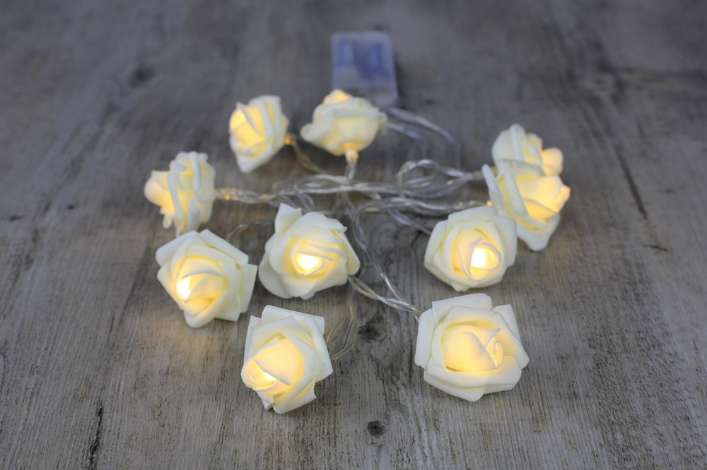 guirlandes lumineuses roses blanches led mariage. Black Bedroom Furniture Sets. Home Design Ideas