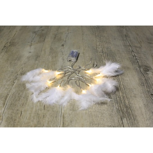 Guirlande Lumineuse Plumes Blanches