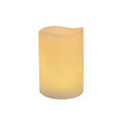 Ivory Frostfire Moon Candle 6""
