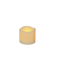 Ivory Frostfire Moon Candle 3""