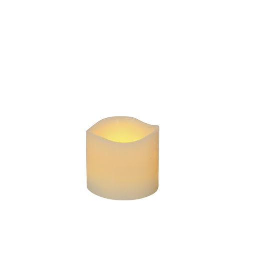 """Ivory Frostfire Moon Candle 3"""""""