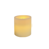 Ivory Pillar Wax Candle 4""
