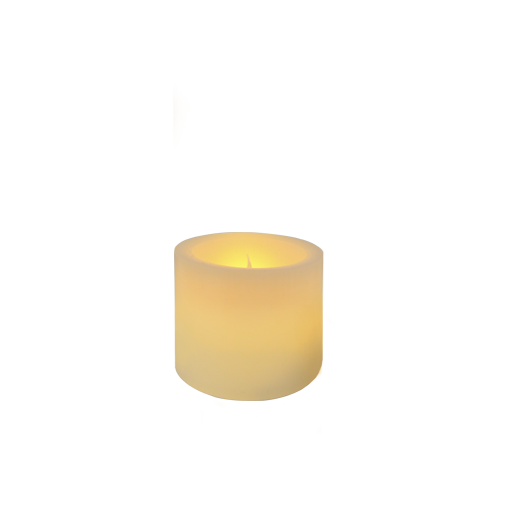 Ivory Pillar Wax Candle 3""