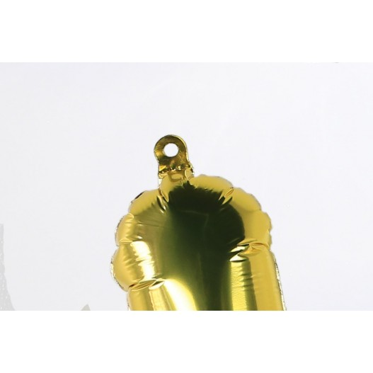 Number Balloon 0 Gold 14""