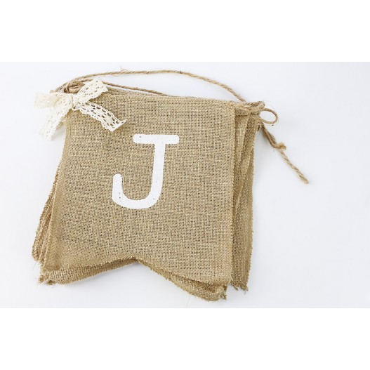 Banderole Just Married Jute