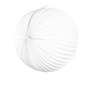 White Accordion Paper Lantern Ball 14""