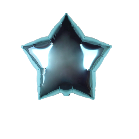Star Shaped Balloon Pastel Blue 22""